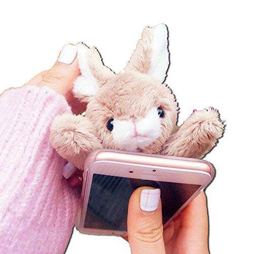 [ MT On&Do ] iPhone7, iPhone7Plus カバー ケース アニマル ぬいぐるみ スマホケース 保護 ふわふわ ロリータ うさぎ