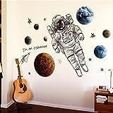 レンコス(Lemcos) ウォールステッカー  宇宙飛行士 COOL 飾り 壁紙  シール DIYウォールステッカー インテリア 窓・ドア・壁 はがせる 北欧風 おしゃれ 部屋飾り 居間・部屋・オフィス・バー・スーパーマーケット