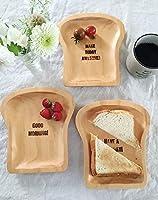 SPICE OF LIFE 木製 食器 皿 ウッドトレイ ナイスデイ PAN MAISON 食パン型 ロゴ入り 18×20cm パイン材 カフェ ランチ デザート AVLT1630