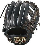 ゼット(ZETT) 軟式野球 グラブ(グローブ) プロステイタス セカンド・ショート用 右投げ用 ブラック×ブラウン(1937) サイズ:3 BRGB30026