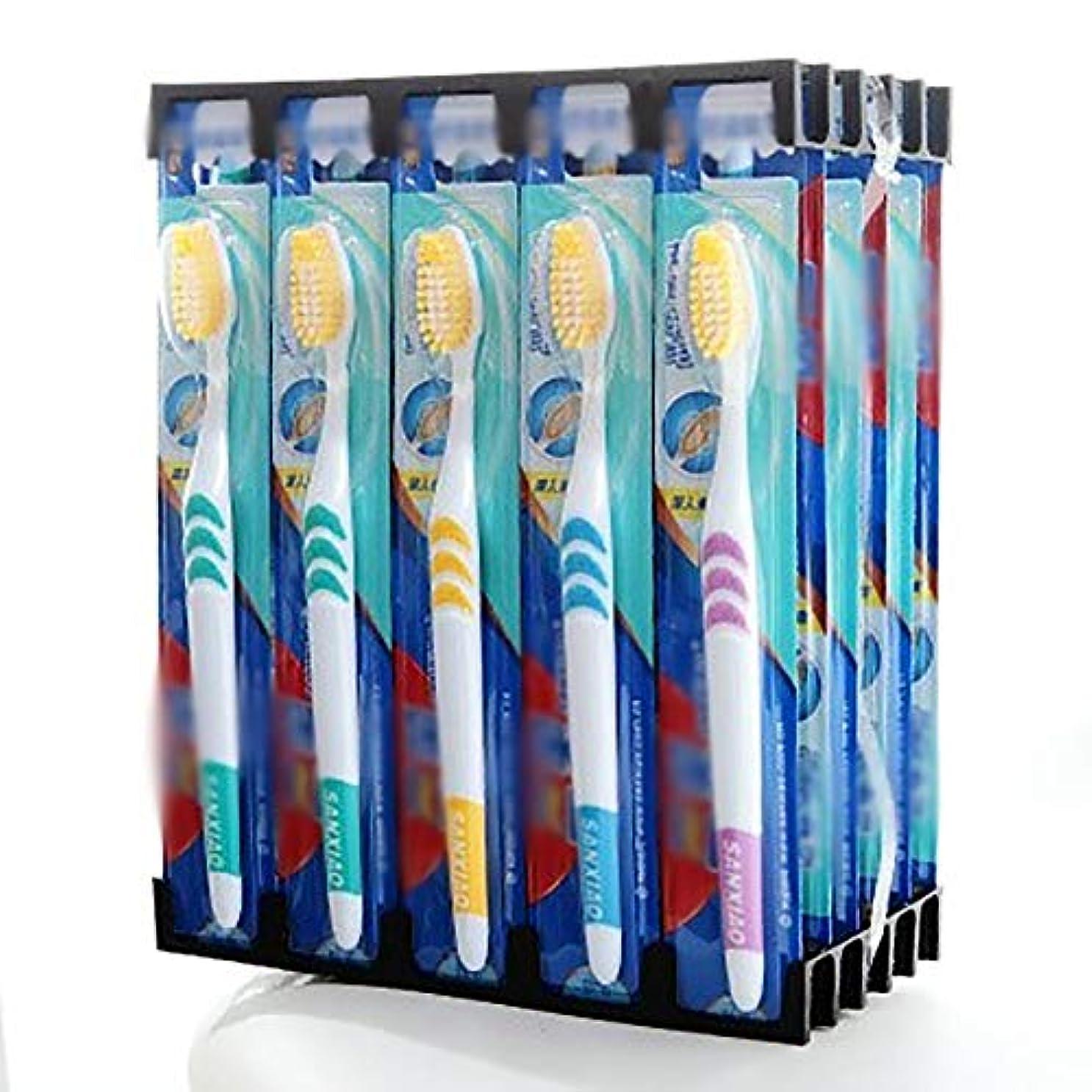 生態学バイオリニスト機械歯ブラシ 大人のための30歯ブラシ、バルク歯ブラシ、ソフト歯ブラシ - 使用可能なスタイルの3種類 HL (色 : C, サイズ : 30 packs)