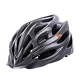 超軽量 自転車 ヘルメット 高剛性 23穴通気アジャスター サイズ調整可能 9色 (黒 A)