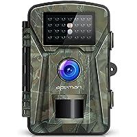 APEMAN トレイルカメラ 防犯カメラ 12MP画素 1080PフルHD 監視カメラ 動体検知カメラ IP66防水防塵 赤外線LEDライト搭載 60°検知範囲 暗視カメラ 人体感知 電池式カメラ