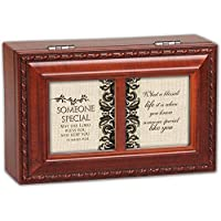 Cottage Garden Someone Special Woodgrain Petite Music Box / Jewelry Box Plays Amazing Grace by Cottage Garden