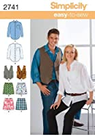 Simplicity Easy-to-Sew Pattern 2741 Misses, Mens, Teens Shirt, Vest and Boxer Shorts Chest Size 38-48 inches M-XL by Simplicity Creative Group Inc - Patterns [並行輸入品]