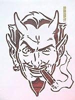 OutletBestSelling 再利用可能 頑丈 悪魔 喫煙シガー 再利用可能 ステンシル 10ミル