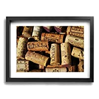 Wine Bottle Cap Wall Art Painting Prints On Canvas Framed For Living Room Bedroom Home Interior Decorations 16x12Inch