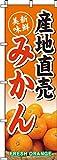産地直送みかん のぼり旗 0100202IN (ノボリ 旗 のぼり旗 幟)