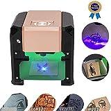 Smartlife レーザー彫刻機、3000MWレーザー彫刻機ミニ卓上レーザー彫刻機DIYロゴレーザー彫版機7.5x7.5 CM