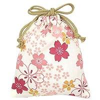 濱文様 巾着小 咲くや桜