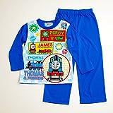 きかんしゃトーマス Tシャツ生地の長袖パジャマ 100cm-120cm(733TM108112) (110cm)