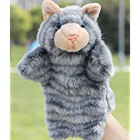 ychoice面白いFinger PuppetsトイKid Plus Hand Puppetsファーム動物動物園学習Gray Kitten