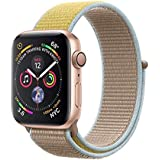 METEQI バンド 対応 Apple Watch、フックファスナー付き新しいナイロンスポーツループバンドストラップ交換バンドアップルウォッチシリーズ 適応 iWatch Series 6/5/4/3/2/1/SE (38mm/40mm, キャメル/