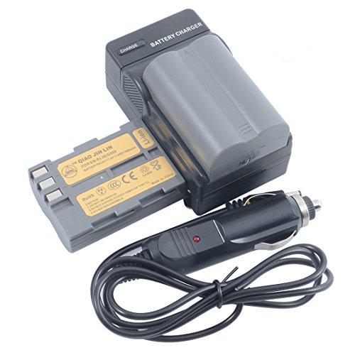 QIAOJINLIN 2個 完全互換バッテリー 急速充電器 対応 Nikon ニコン EN-EL3E D30 D50 D70 D70S D80 D90 D100 D200 D300 D300S DSLR D700 カメラ