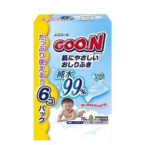 グーン 肌にやさしいおしりふき 詰替用 70枚×6個 (420枚)