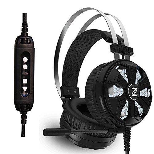 ZIDLI ゲーミングヘッドセット 7.1chサラウンドシステム ヘッドホン 重低音ヘッドファン