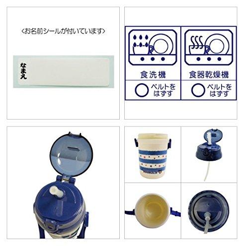 ミキハウス MIKIHOUSE ダブルB DOUBLE.B ボーダー&ドット柄 ストローホッパー(水筒) (紺(Col-03)) mikihouse 65-4028-979