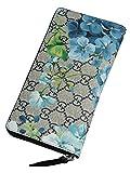 (グッチ) Gucci GG BLOOMS 油絵を描いたような美しいフラワープリント ラウンドファスナー長財布 ベージュ&ブルー ワンサイズ [並行輸入品]