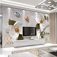 Wuyyii カスタマイズされた3D壁紙大ヨーロッパレトロソファテレビ背景リビングルームの寝室の壁の装飾 - 120×100センチ