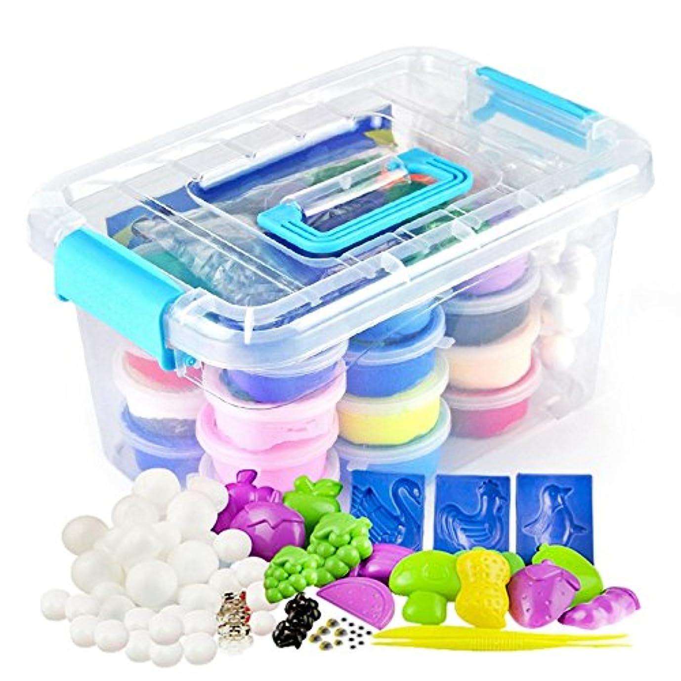 興奮するカートラビリンスGraces Dawn Polymer Clay,36 Colours Ultra Light Moulding Magic Clay Kit, Best Kids Gifts Ever , Non-toxic, Easy Storage