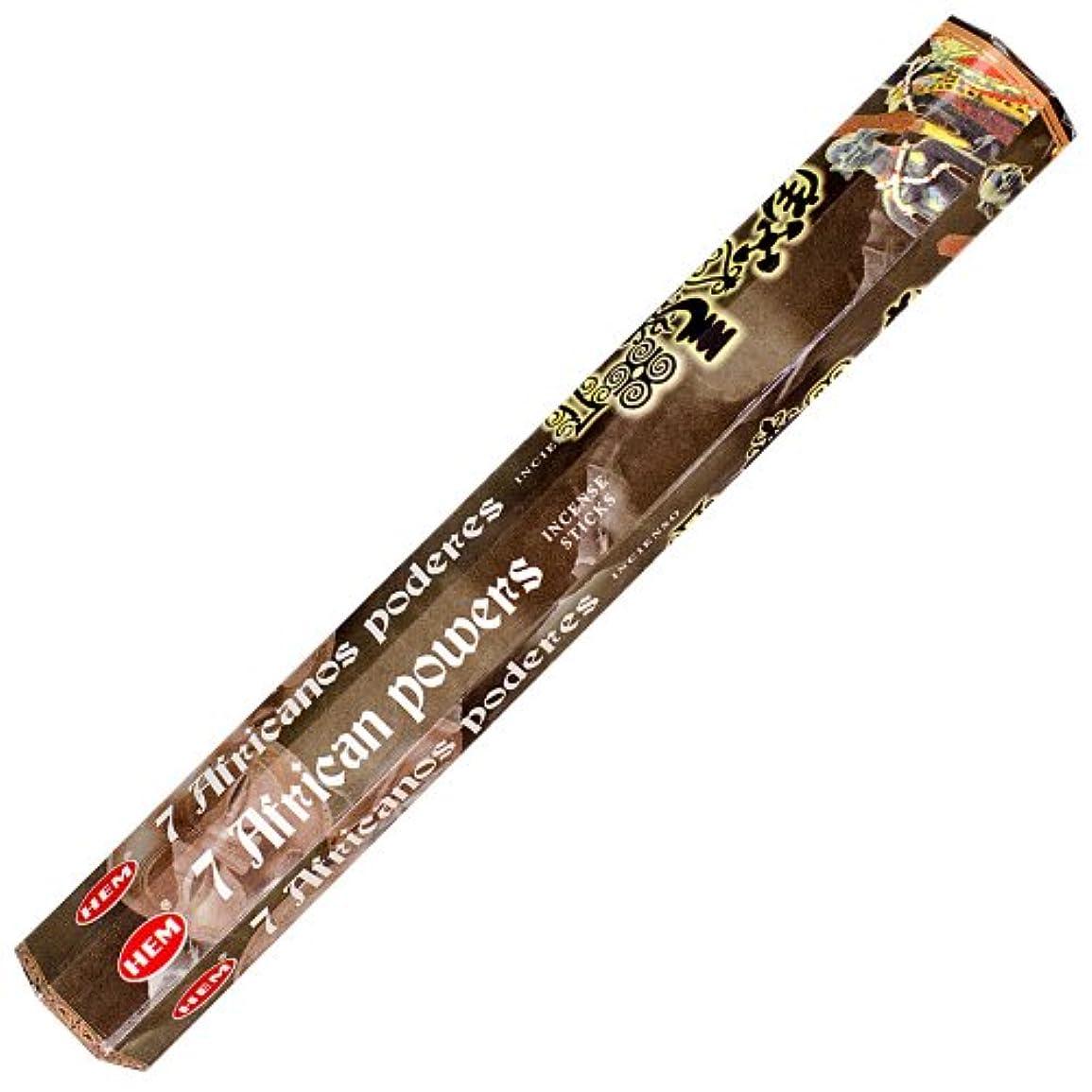 赤動員するしがみつくHem 7 African Powers Incense 20スティックHex Pack