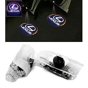Ltsplay カーテシライト ドアウェルカムライト ドアカーテシランプ レーザーロゴライト LEDロゴ投影 ゴーストシャドウ レクサス LS ES IS LX RX GX 2個セット 車用 カーテシ 純正交換タイプ For LEXUS-A