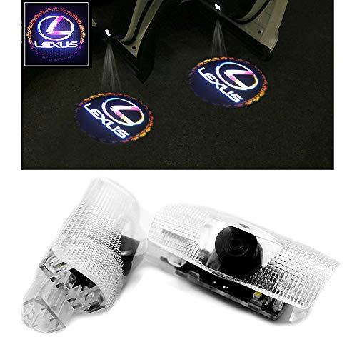 Logo Laser Projector Car LED Door Warning Light Lexus Bule HAOHAOYUN 2Pcs Car Shadow Light,Car Welcome Lamp Ghost Shadow Light For LEXUS LS LX ES