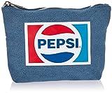 ティーズファクトリー PEPSI ペプシ ヴィンテージ ロゴ 三角 ポーチ デニム 約H13×W20.5×D5cm 綿 ポリエステル PPS-5570450DM