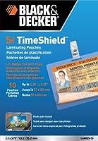 ブラックand Decker TimeShield Thermal Laminatingポーチ、IDバッジwithクリップ、5Mil–10パック( lamid5–10)
