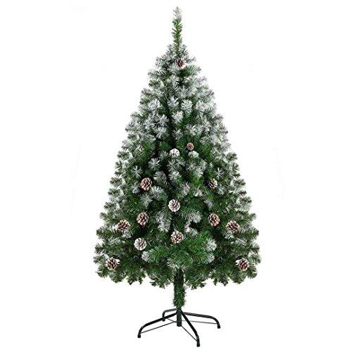 Ubetter クリスマスツリー オリジナルツリー クリスマスグッズ グリー christmas tree 150cm 松かさスノータイプ 組み立て式 UBTTREE-1502