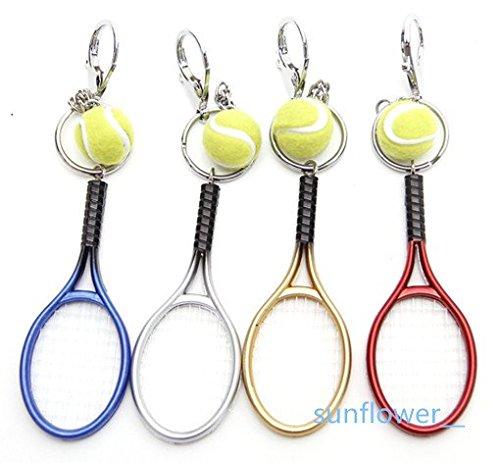 sunflower__テニスラケット&ボール ペア キーホルダー 全4色 金色