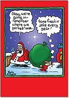 Where We ParkedクリスマスJoke Greeting Card 12 Christmas Card Pack (SKU:B5763)