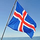 Hommy 国旗 国 アイスランド  バナー 飾り 90*150cm
