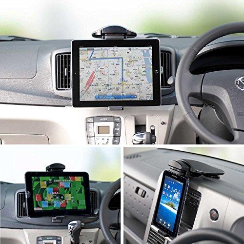 サンワダイレクト iPad Air 2 iPad mini 4 タブレットPC 車載ホルダー iPad Pro 9.7 対応 200-CAR010 [フラストレーションフリーパッケージ (FFP)]