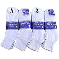 J&J 12 Pairs Diabetic Circulatory Health Men's Cotton Ankle Socks ALL SIZE