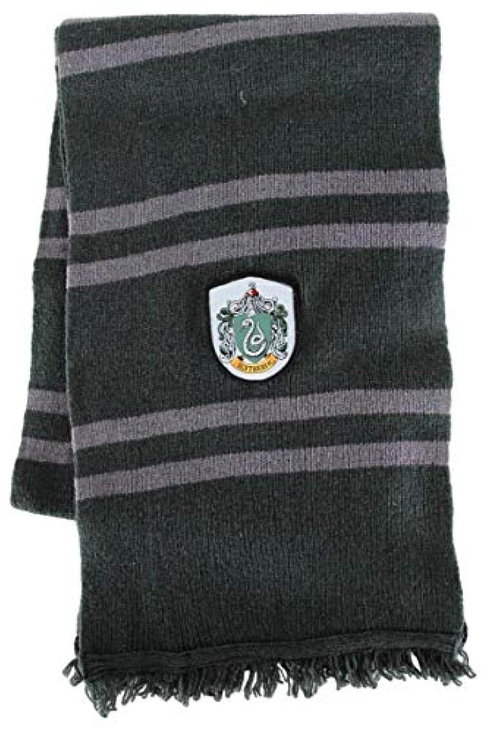 舌なポーター飛行場Harry Potter 'Slytherin' House Deluxe Scarf ハリーポッターSlytherin 'ハウスデラックススカーフ?ハロウィン?サイズ:One Size