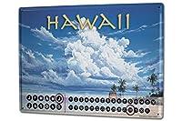 カレンダー Perpetual Calendar World Tour G. Huber Hawaii Tin Metal Magnetic