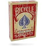 BICYCLE トランプ RIDER BACK ライダーバック FADED ダメージ印刷 (RED - レッド)