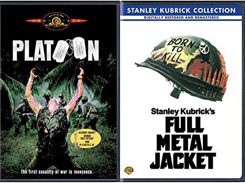 Vietnam War Double Feature Platoon + Full Metal Jacket DVD 2 Pack War Drama / Action Set