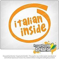 イタリア内 Italy inside 11cm x 11cm 15色 - ネオン+クロム! ステッカービニールオートバイ