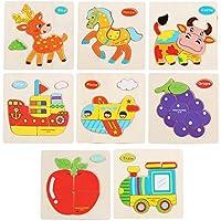 [多色]パズルゲーム子供のための3 PCS子供の木製パズル