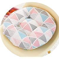 女の子の心の椅子のクッションクッションクッション学生の教室かわいいおならパッド厚い畳座クッションブースターパッド,ピンクの三角形,42x42cm [スリッププルーフバージョンの増粘]