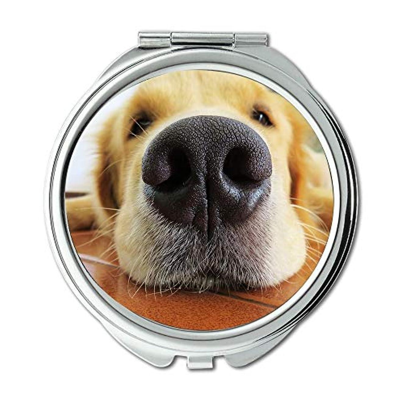 回る業界倫理的ミラー、メイクアップミラー、FuçaMuzzle Dogゴールデンレトリバー動物レースノーズ、ゲームマウスマット、ポケットミラー、携帯用ミラー