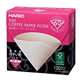 HARIO (ハリオ) V60 用 ペーパーフィルター M 1~2杯用 100枚箱入り みさらし VCF-01-100MK