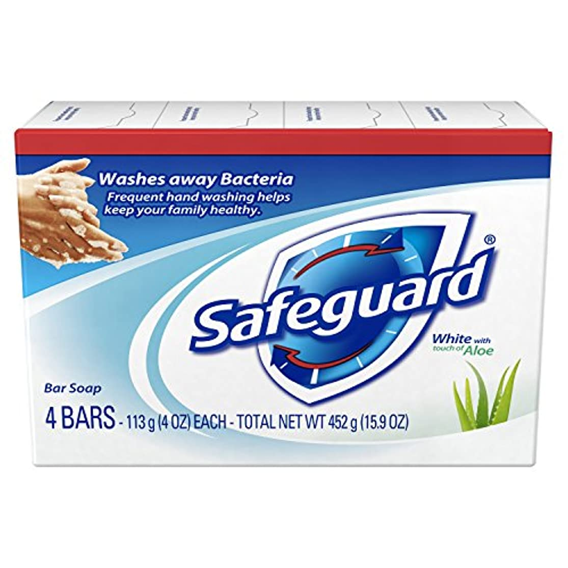 眠るサミットしわSafeguard アロエ4オズバー、4EA(5パック)で抗菌消臭石鹸ホワイト 5パック