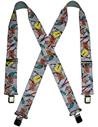 CTMメンズBig & Tall Elastic ElectricianクリップエンドWork Suspenders