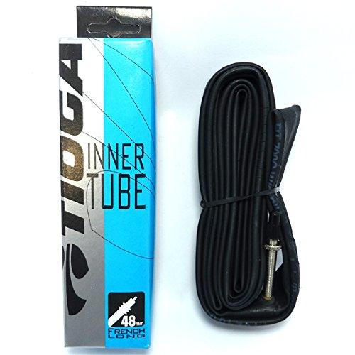 [해외]티오 TIOGA 이너 튜브 불교 식 밸브 (프렌치 밸브) (자전거 튜브) TIOGA Inner Tube (French Valve) 700x28 ~ 32C · 48mm (TIT12200)로드 크로스 오토바이 피스톤 자전거/Taioga TIOGA inner tube French style valve (French valve) (bicycle tube...