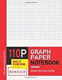 Graph Paper Notebook: Large Size Red Cover Grid Journal, 4x4 Square Per Inch Thin Grey Lines, Isometric Quad Ruled Composition Graph Paper Notebook Standard For Student Math, Geometry, Engineering Art, Drawing, Graphing, Drafting And Writing Notes