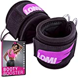 LOMI Fitness Ankle Straps for Cable Machines (Pair) Plus Bonus Bag - Premium Double D-Ring Padded Ankle Cuff, Pro Workout attachments, Gym Accessories for Women, Glute Kickbacks, Climbers