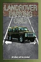 BlechschilderWeltティンサインランドローバーグリーン駐車場のみ駐車場サインティンサインメタルサイン